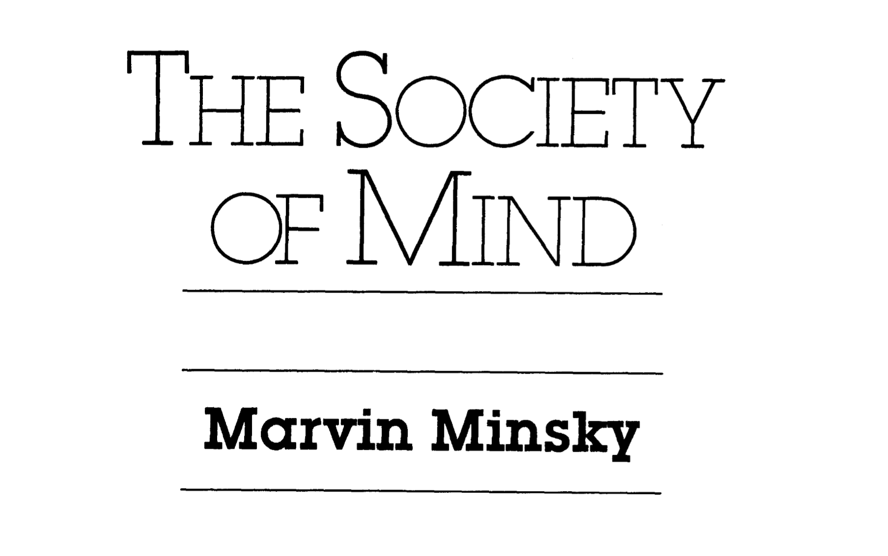 Society of Mind cover