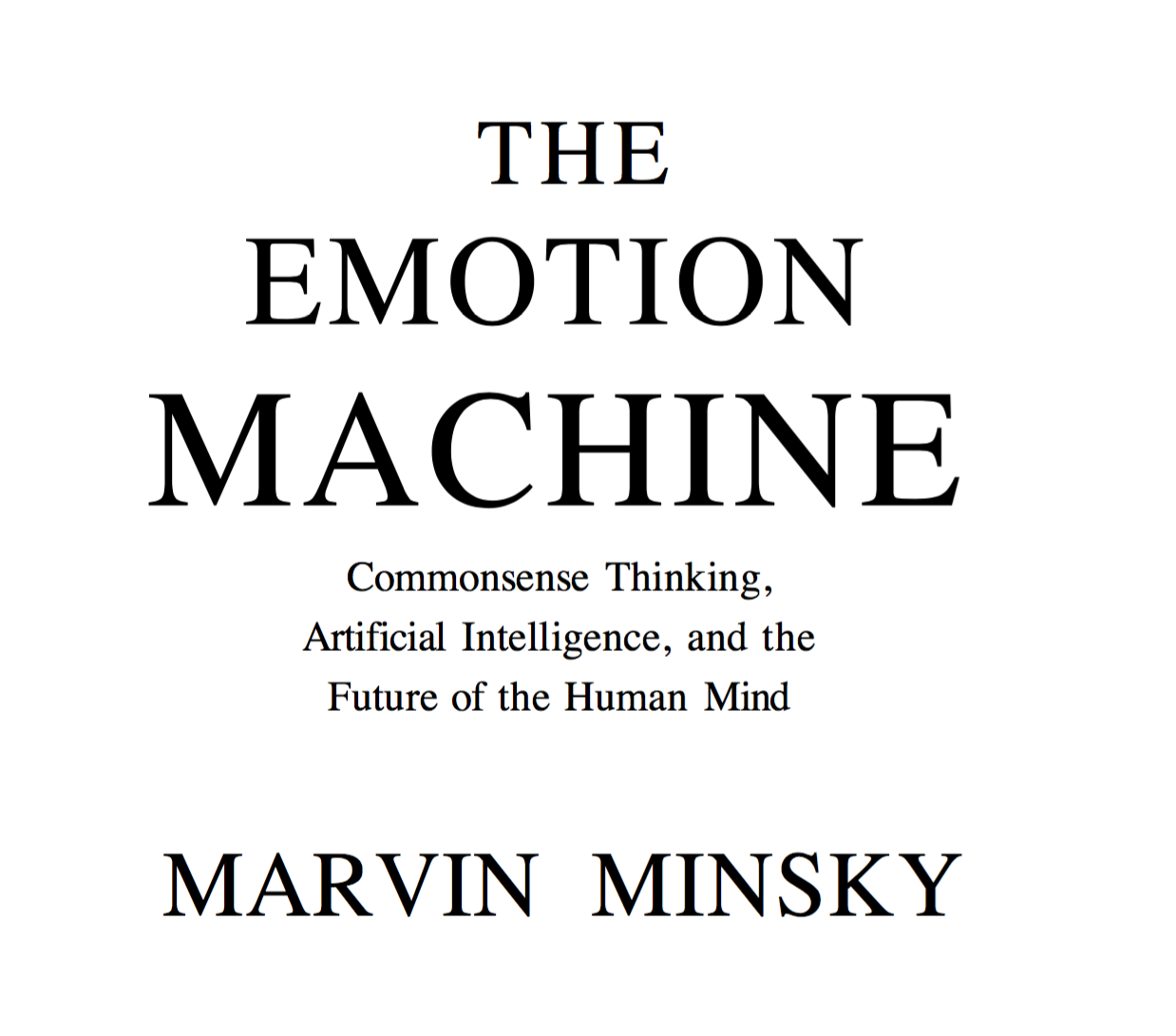 The Emotion Machine cover